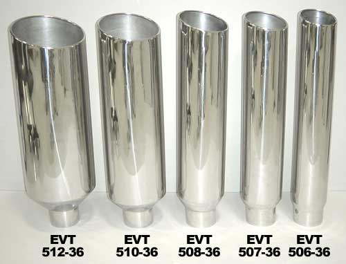 36 in inch polished stainless 5 in in 8 in out stack evt508 36