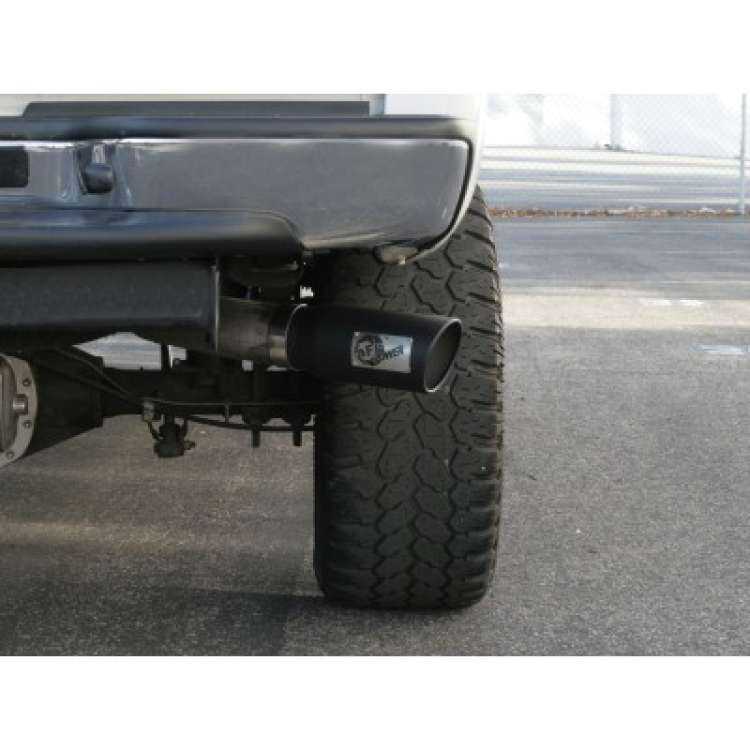 afe 5 inch inlet 6 inch outlet 15 inch long black powdercoated exhaust tip