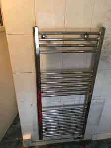 chrome electric towel rail heater
