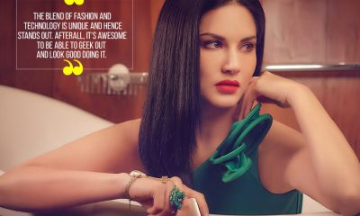 Sunny Leone Exhibit Magazine Photoshoot October 2016