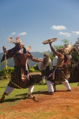Caci whip dance in Manggarai – Pure Flores Tours
