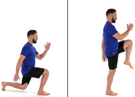 Running injury prevention - reverse lunge to runner