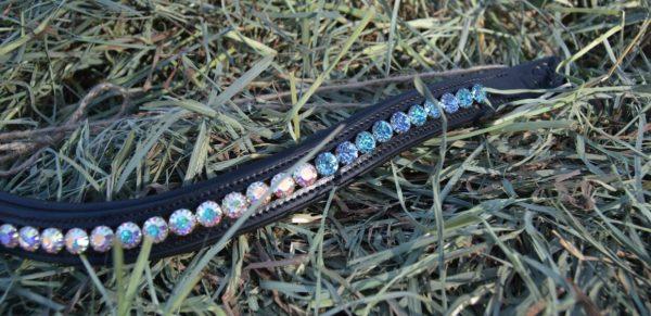 crystal black browband - blue multi w aurora