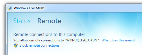 Disable remote connection