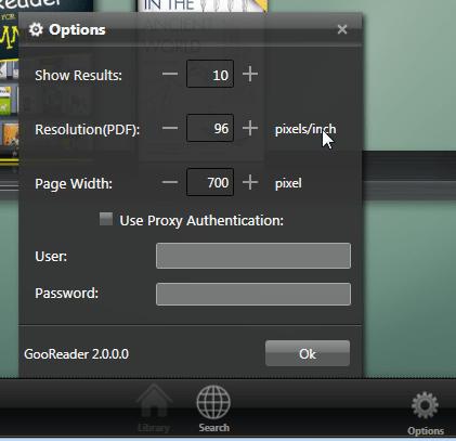 GooReader 2 Options
