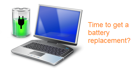 Replace laptop battery