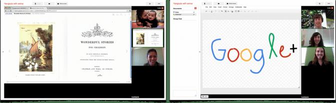 Google Plus - Hangouts: Screensharing and Sketchpad
