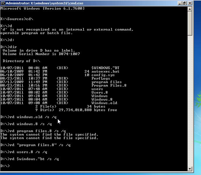 Remove Windows 8 installation