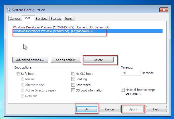 Windows 7 msconfig