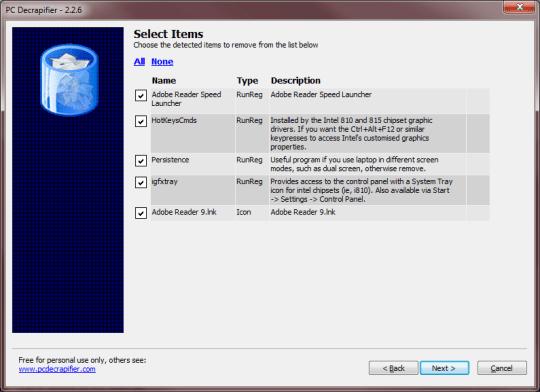 PC Decrapifier - Screenshot
