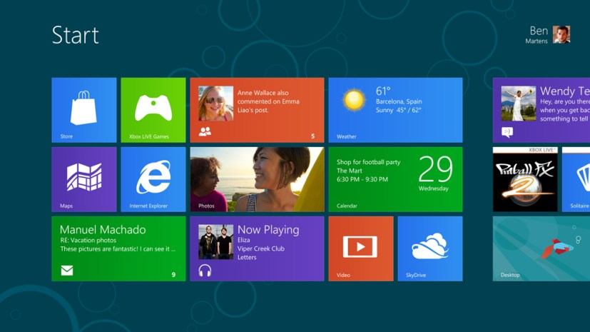 Windows 8 Consumer Preview - Start Screen