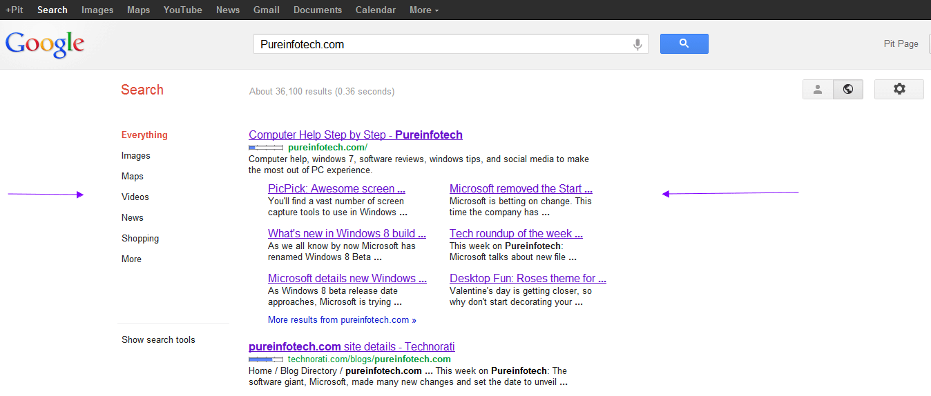 How to customize Google search results page and turn-off unwanted