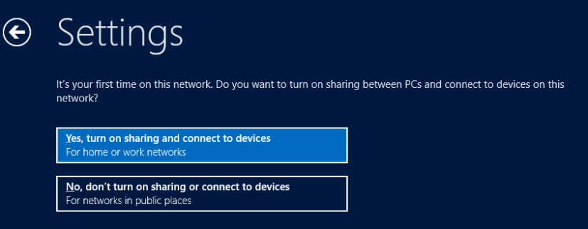 Settings: Networking - Windows 8 Consumer Preview