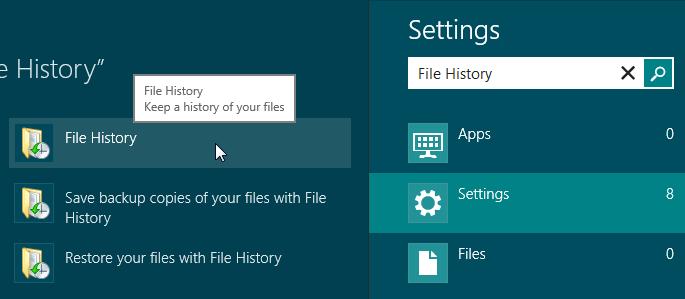 Open File History - Windows 8