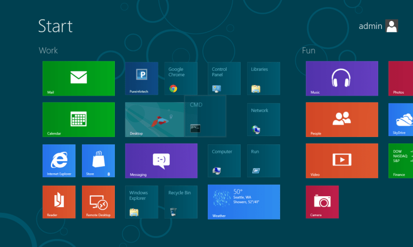 Rearrange tile - Start Screen - Windows 8