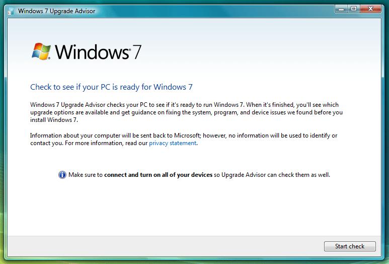 64 bit windows 7 upgrade