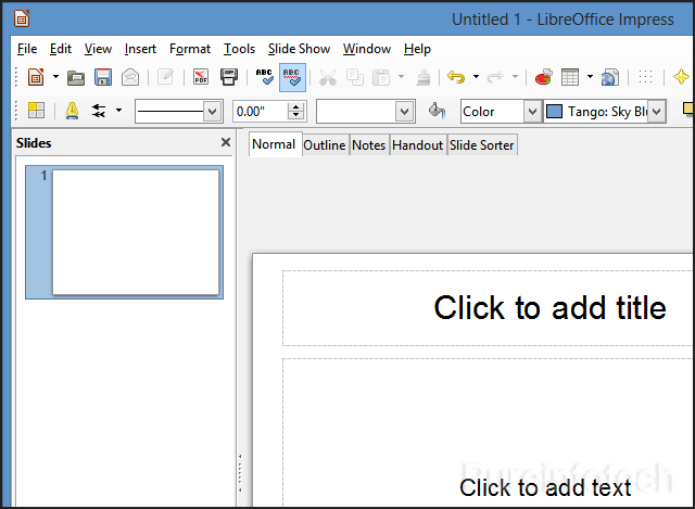 Impress the free PowerPoint presentation application