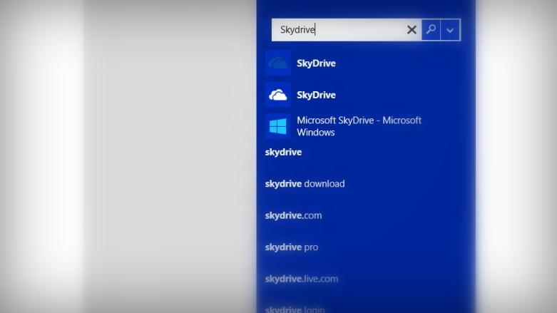 Search in Windows 8.1 blue