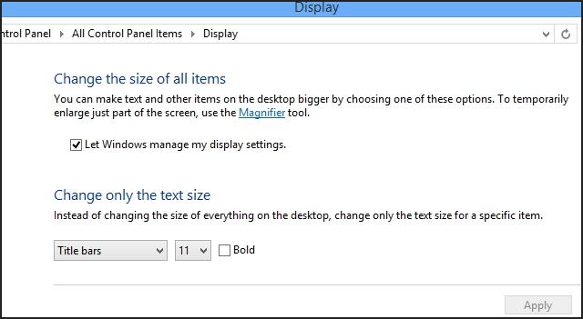 Automatically Desktop scaling