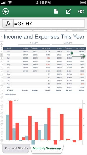 Excel for iPhone, Office Mobile 300_wide