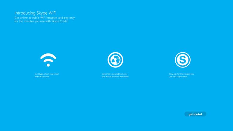 Skype WiFi app for Windows 8