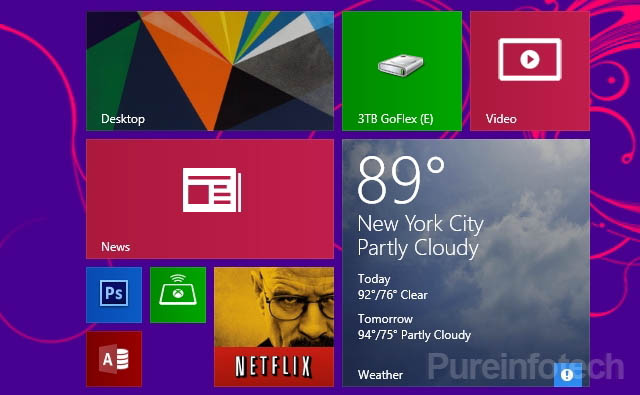 Tile sizes in Windows 8.1