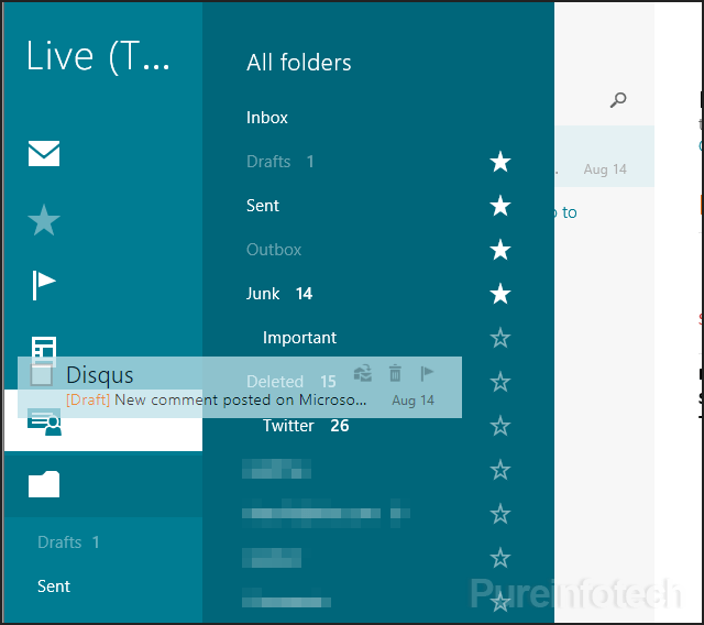 Drag & Drop email feature