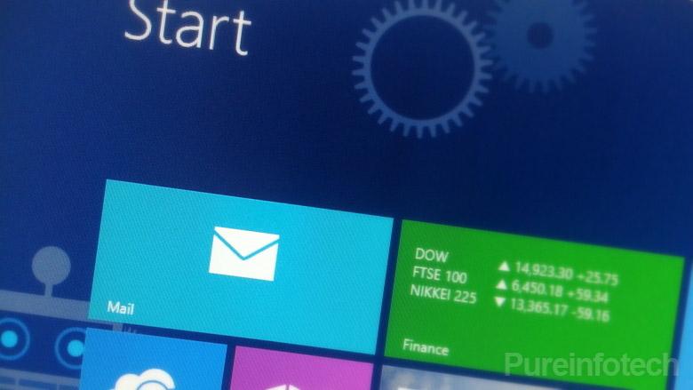 Mail app tile on the Start screen