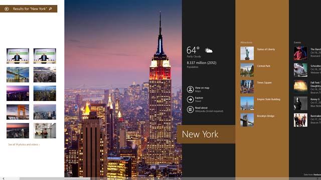 Bing search in Windows 8.1