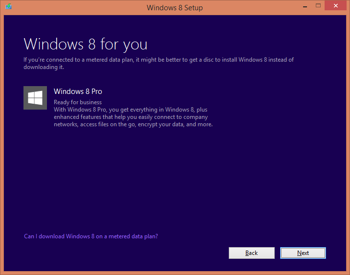 Downloading Windows 8 first