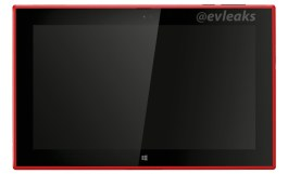 Red Nokia Lumia 2520 Windows RT tablet