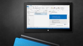 Outlook 2013 RT running in Surface
