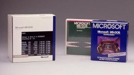MS-DOS products and packaging