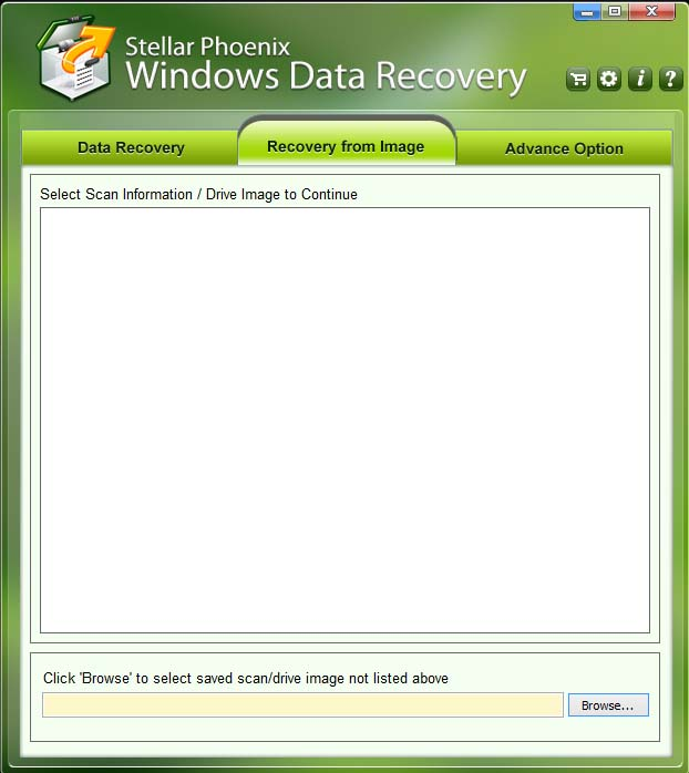 Recovery from Image Windows Data Recovery