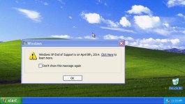 Windows XP End of Support is on April 8th, 2014