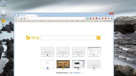 Bing search box on new tab Google Chrome