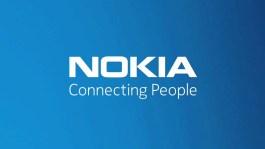 Nokia logo blue background