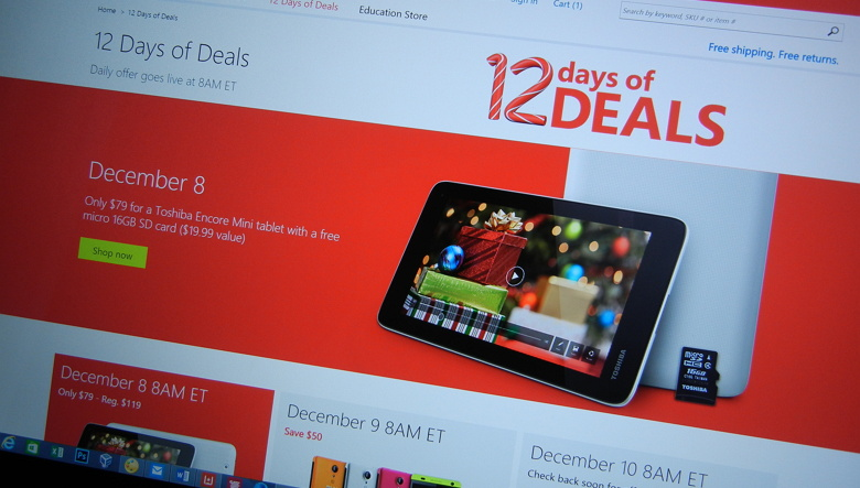 Microsoft Store 12 Days of Deals 2014