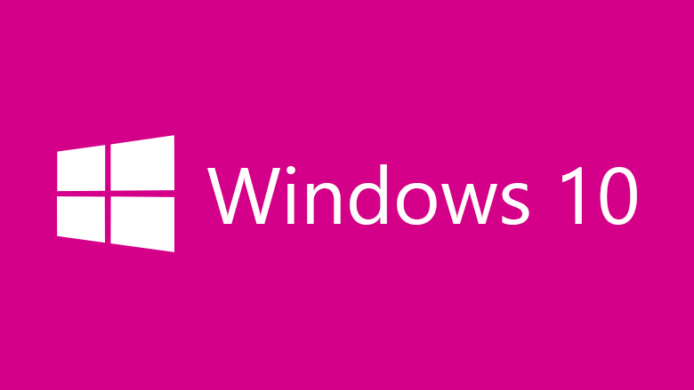 Windows 10 pink background