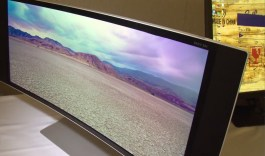 HP Z34c curved monitor at CES 2015