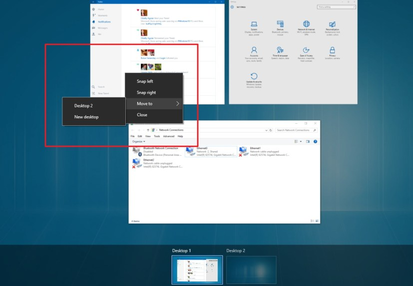 How To Move Apps To A New Virtual Desktop On Windows 10
