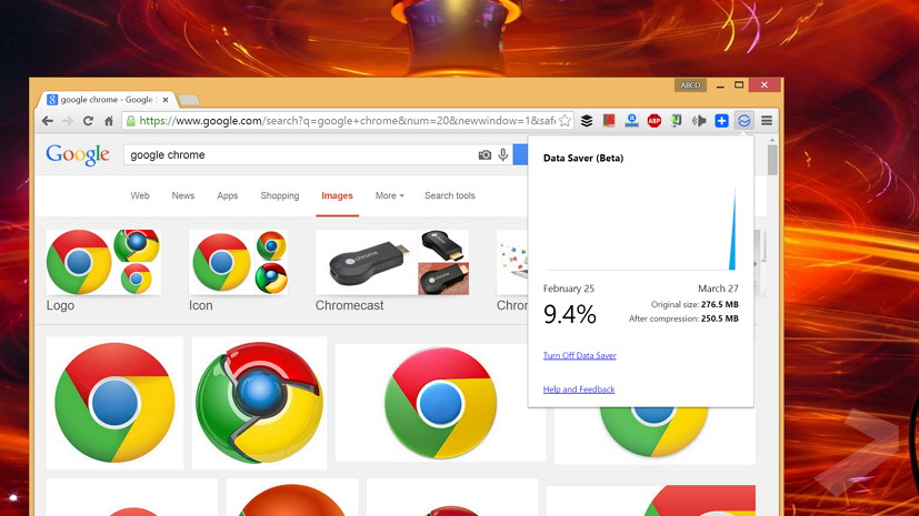 Data Saver extension for Google Chrome