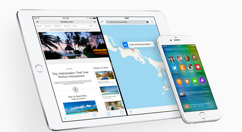 Apple iOS 9 Slide Over