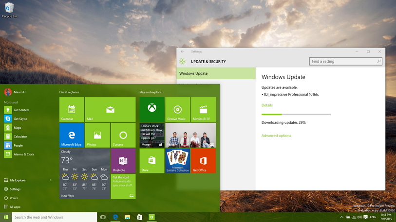 Windows 10 build 10166 (Fast ring) rolls out with Microsoft Wi-Fi