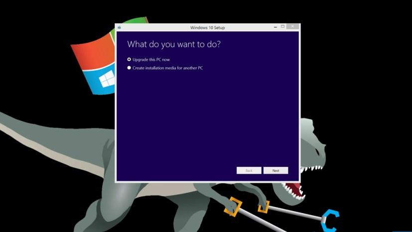 Windows 10 upgrade using ISO file