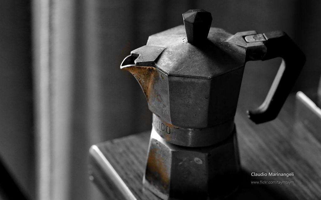 Claudio Marinangeli Coffee maker picture - Subtle details theme for Windows