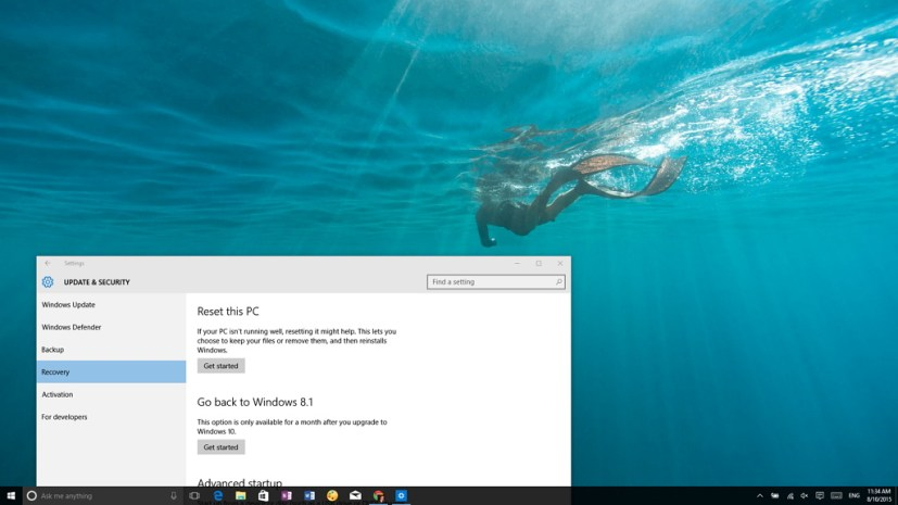 Roll back to Windows 7 or Windows 8.1 from Windows 10