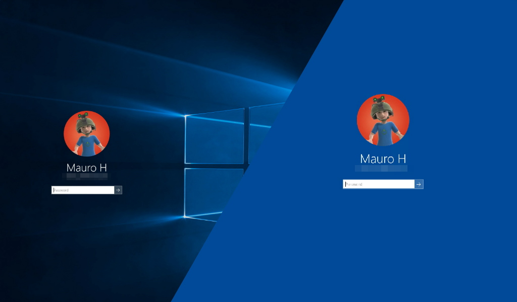 how to remove the windows 10 logon screen background and
