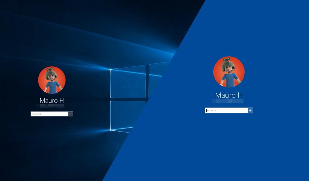 Windows 10 change logon screen image