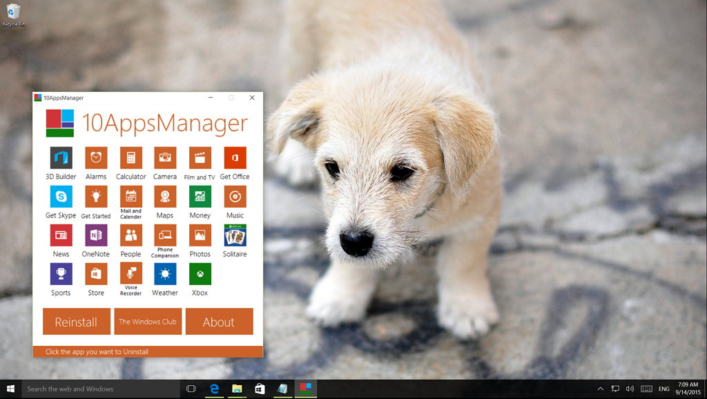 Uninstalling Windows 10 built-in apps